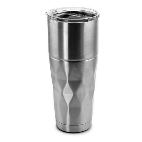 Mr Coffee Kellan 26 Ounce Stainless Steel Thermal Tumbler with Lid in Silver