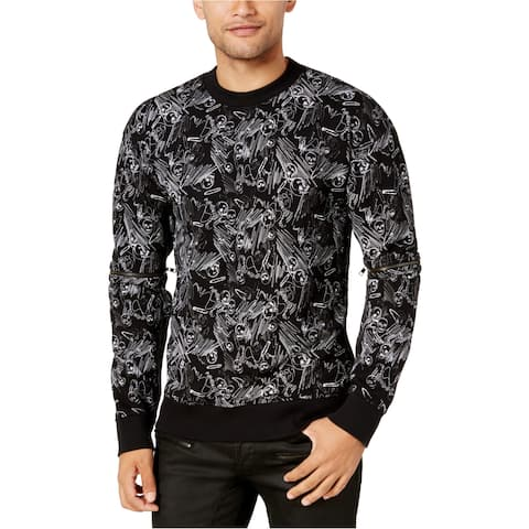 Guess Mens Skull Pin Sweatshirt