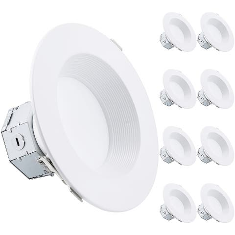 8-Pack 6 Inch 15W LED Canless Recessed Light IC rated