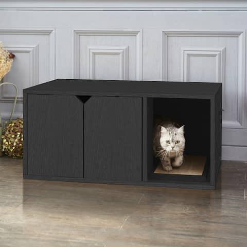 Way Basics Eco Stackable Cat Litter Box, Black
