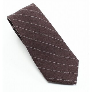 Michael Kors NEW Brown Lexington Striped Wool Blend Men's Necktie