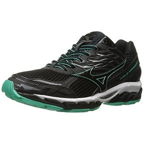 Mizuno Women's Wave Paradox 3 Running Shoe, Black-Electric Green, 8 B US