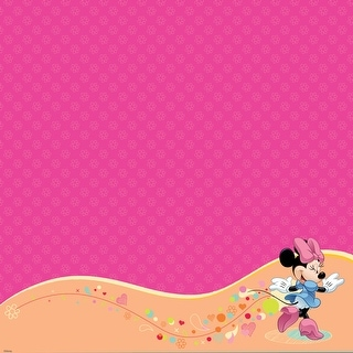 "Disney Glittered Thermography Paper 12""X12""-Mickey Family - Minnie Mouse"