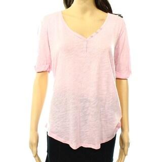 PJ SALVAGE NEW Light Pink Women's Size Small S Lace Trim Sleepshirt