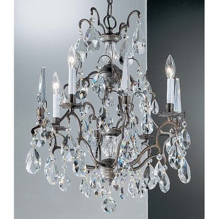 "Classic Lighting 9004-AB 24"" Crystal Chandelier from the Versailles Collection"