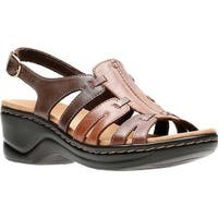 Clarks Women's Lexi Marigold Sandal Brown Multi Leather