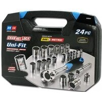 Channel Lock CL38054 Socket Set Uni-Fit 24 Piece Set 0.25 & 0.38 Dr & M