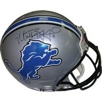 Matthew Stafford signed Detroit Lions Full Size Replica Helmet black sig Stafford Hologram