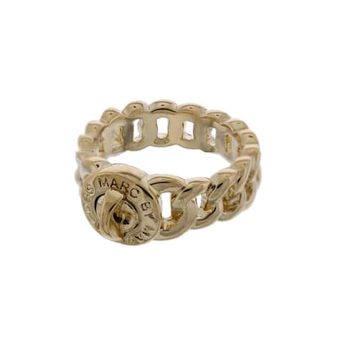 Marc by Marc Jacobs Womens Small Katie Right-Hand Ring Logo Turn Lock Detail