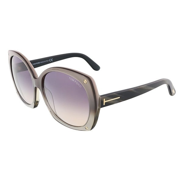 Tom Ford FT0362/S 38J GABRIELLA Beige Pearl Oversized sunglasses - champagne pearl - 59-16-140