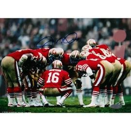 Joe Montana 49ers Huddle Signed 8x10 Photo