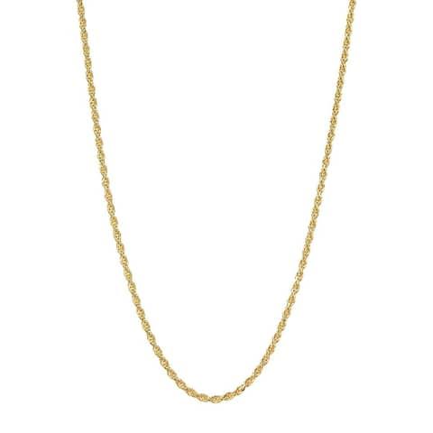 Pori 14K 1.5mm Diamond-Cut Rope Chain Necklace
