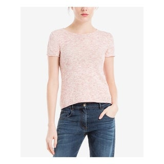 Link to MAX STUDIO Womens Pink Short Sleeve Jewel Neck T-Shirt Top  Size L Similar Items in Tops