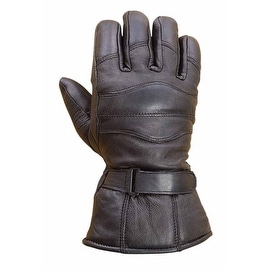 Mens Sheep Leather Winter Motorcycle Biker Riding Gloves Black G9