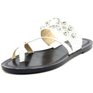 Via Spiga Gwenda Open Toe Leather Slides Sandal