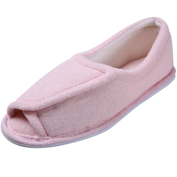 Women's Clinic Comfort Terry Cloth Slippers - Pink - Medium Width