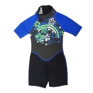 Kiddi Choice Kids 2.5mm Neoprene Short Sleeve Wetsuit Black/Blue