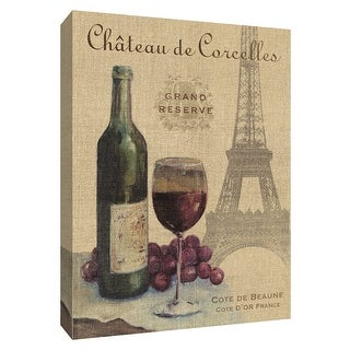 """PTM Images 9-154518  PTM Canvas Collection 10"""" x 8"""" - """"Travel Wine I"""" Giclee Wine Art Print on Canvas"""