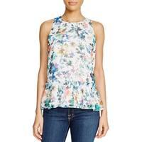 Likely Womens Bayard Peplum Top Floral Print Sleeveless
