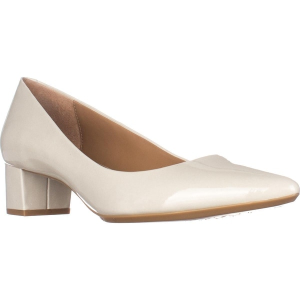 Calvin Klein Genoveva Kitten Heel Dress Pumps, Soft White Patent