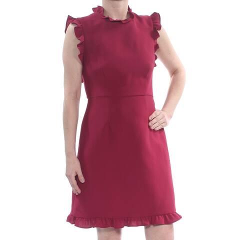 JILL STUART Burgundy Cap Sleeve Knee Length Sheath Dress Size 8