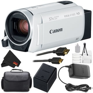 Canon VIXIA HF R800 Full HD Camcorder (White) Bundle (3 options available)