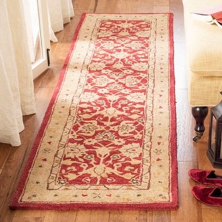Link to Safavieh Handmade Anatolia Angeline Traditional Oriental Hand-spun Wool Rug Similar Items in Transitional Rugs