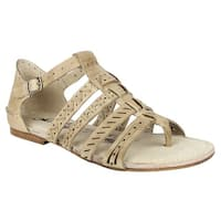 Naughty Monkey Womens true grit Open Toe Casual Ankle Strap Sandals - 9.5