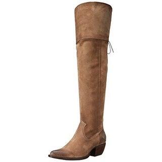 FRYE Women's Sacha Over The Knee Western Boot, Ash, 6 M US