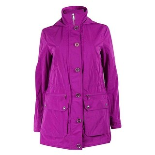 Lauren Ralph Lauren Women's Taffeta Hooded Coat - Pink