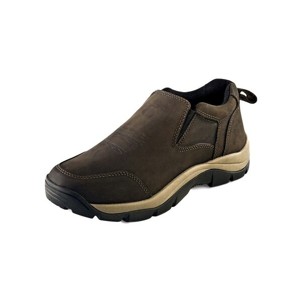 Old West Casual Shoes Mens Rubber Elastic PU Insole Distress