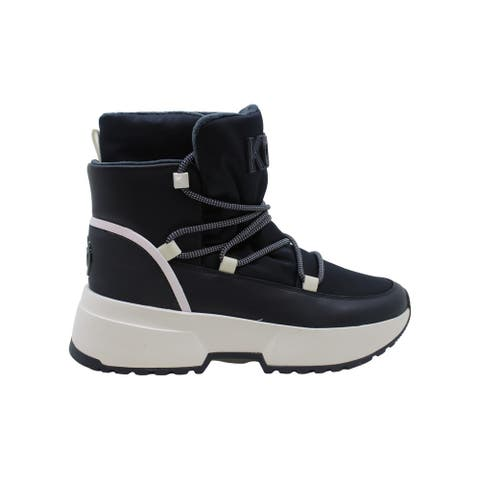 Michael Michael Kors Women's Shoes cassia Leather Closed Toe Ankle Cold Weath...