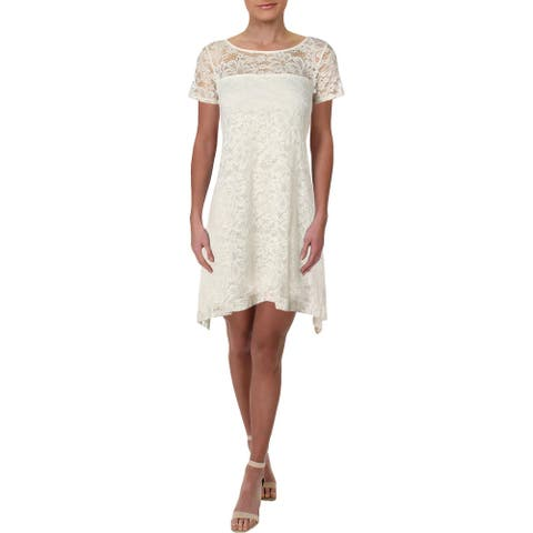 Signature By Robbie Bee Womens Petites Casual Dress Lace Daytime