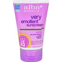 Alba Botanica - Natural Very Emollient Sunscreen For Kids Spf 45 ( 1 - 4 FZ)