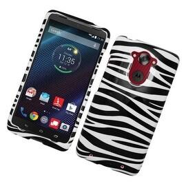 Insten Zebra Hard Snap-on Rubberized Matte Case Cover For Motorola Droid Turbo