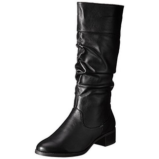 Easy Street Womens Cheyenne Riding Boots Mid-Calf Slouchy