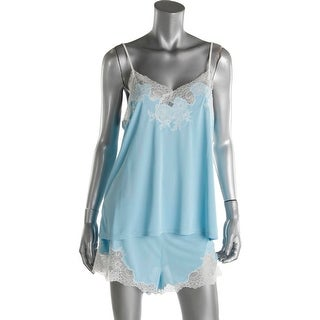 Natori Womens Camisole With Short Lace-Trim Adjustable Spaghetti` - L