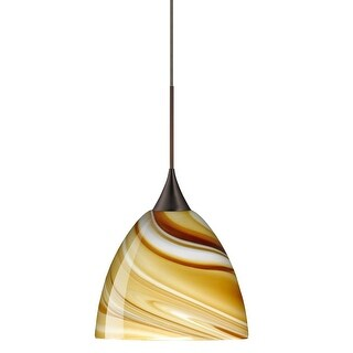 Besa Lighting 1XT-7570HN Sasha 1-Light Halogen Cord-Hung Mini Pendant with Honey Glass Shade