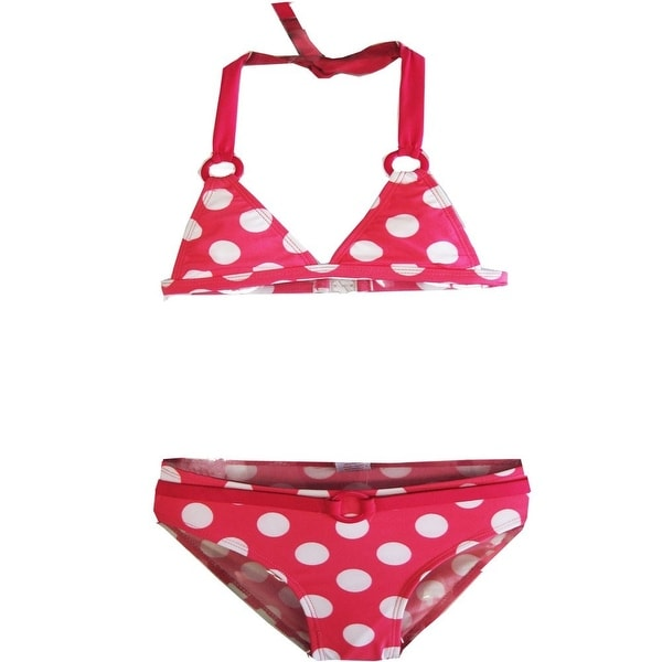 1c1ad5f631927 Shop 2B Real Little Girls Pink White Polka Dots Two Piece Bikini Swimsuit 4- 6X - Free Shipping On Orders Over  45 - Overstock.com - 19293798