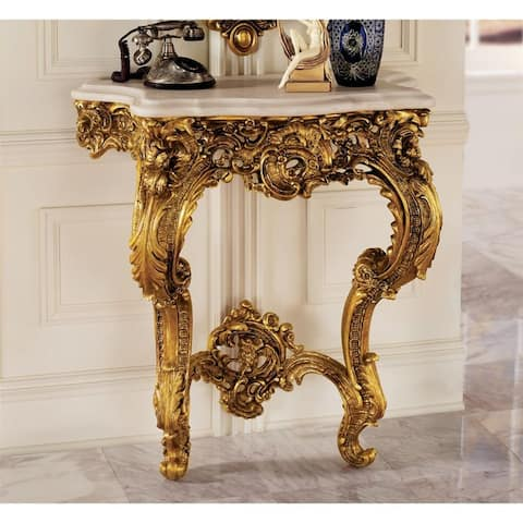 Design Toscano Madame Antoinette Wall Console Table - 32 x 17 x 35