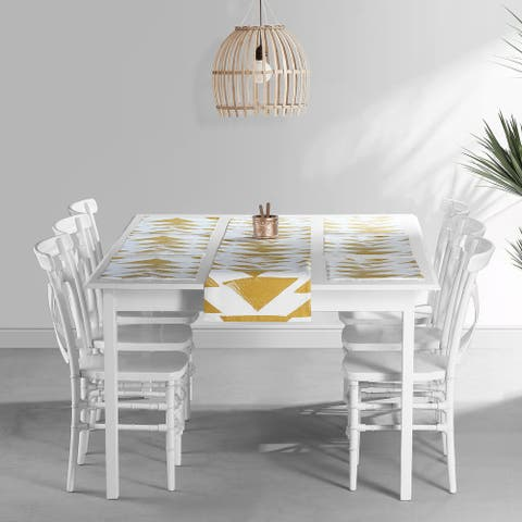 Exclusive Fabrics Triad Printed Cotton Table Runner & Placemats