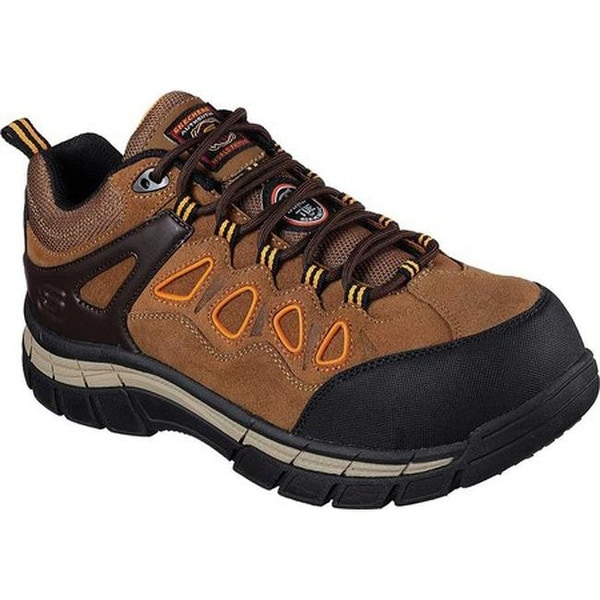 eb4299022167 Shop Skechers Men s Work Relaxed Fit Dunmor Comp Toe Lace Up Brown ...