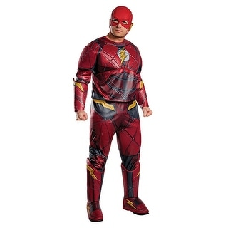 Justice League Flash Adult Costume, Plus Size - Red