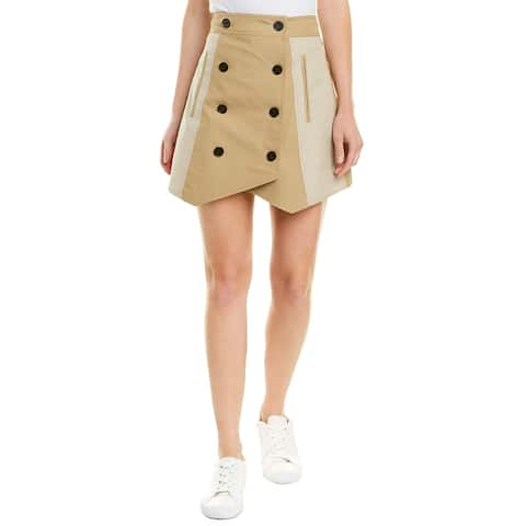 Derek Lam 10 Crosby Double-Breasted Trench Skirt
