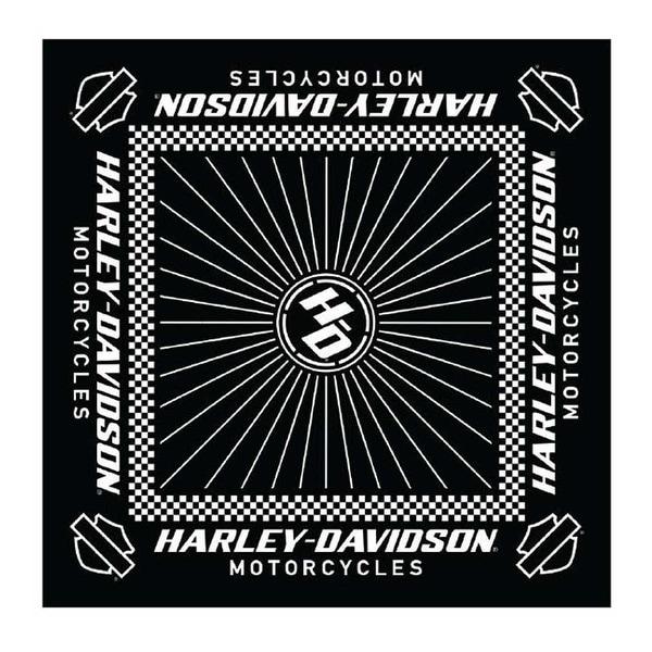 Black CTM/® Checkerboard Print Bandana