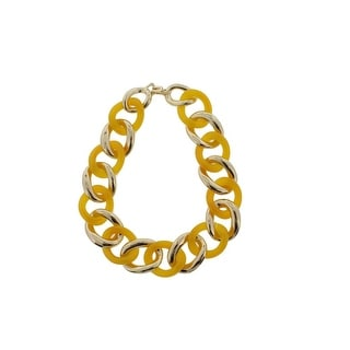 Kenneth Jay Lane Womens Chain Necklace Gold-Plated Citrus Resin - gold/citrus