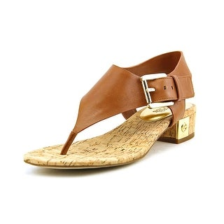 Michael Michael Kors London Thong Women Open Toe Leather Brown Thong Sandal