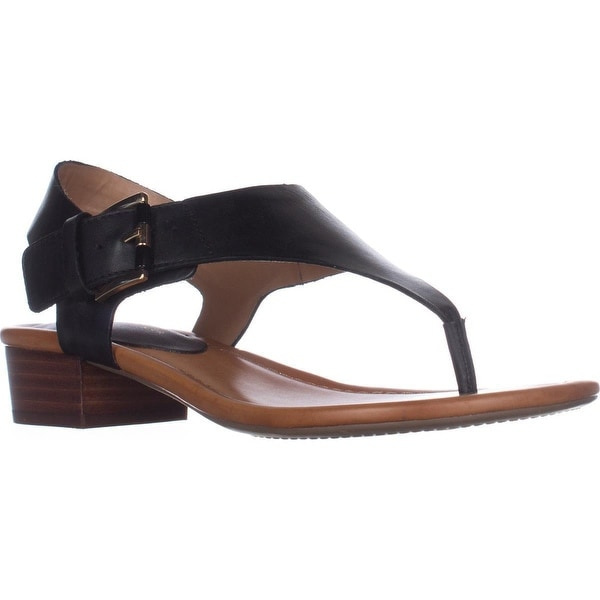 Tommy Hilfiger Kitty T-Strap Thong Sandals, Black