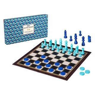 Monoprice Classic 2-in-1 Chess & Checkers Board Game