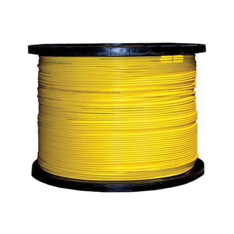 Offex 12 Fiber Indoor Distribution Fiber Optic Cable, Singlemode 9/125, Plenum Rated, Yellow, Spool, 1000ft